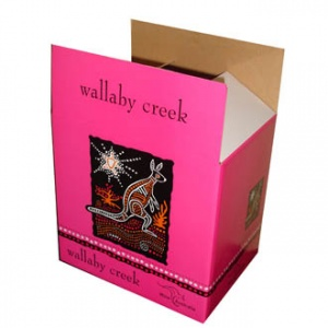 Color printed wine packing box (Pink)
