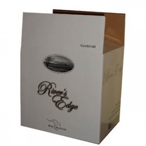 Color printed wine packing box (White)