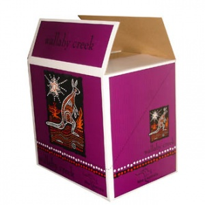 Color printed wine packing box (Purple)