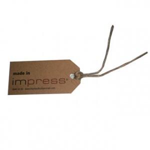 Impress custom made tag with hemp